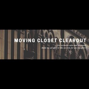 Moving closet clear out